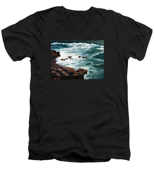 Ocean Rocks  Men's V-Neck T-Shirt