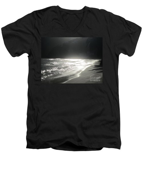 Men's V-Neck T-Shirt featuring the photograph Ocean Smile by Fiona Kennard