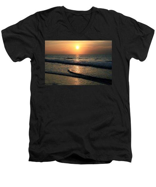 Ocean Sunrise Over Myrtle Beach Men's V-Neck T-Shirt
