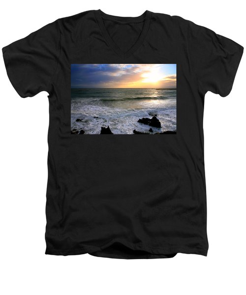Ocean Sunset 84 Men's V-Neck T-Shirt