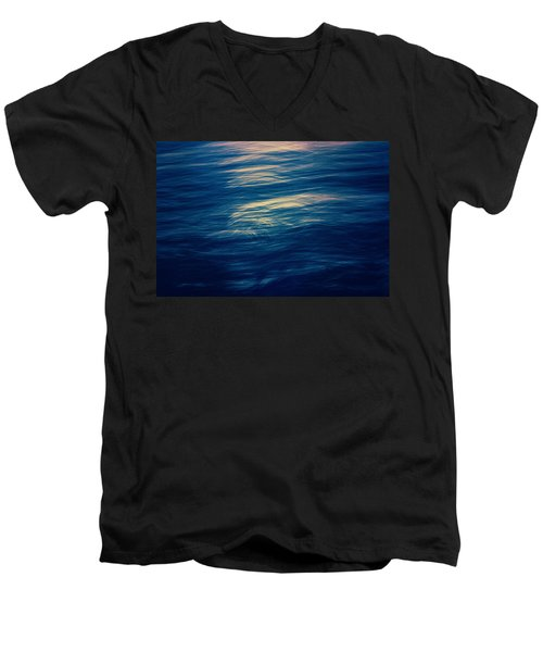 Men's V-Neck T-Shirt featuring the photograph Ocean Twilight by Ari Salmela