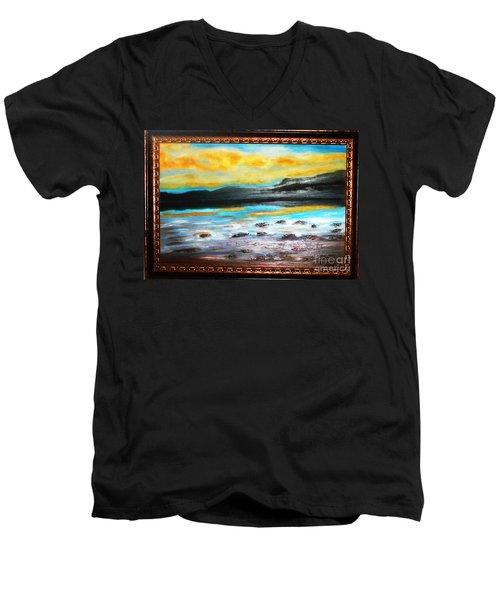 Ocean View Men's V-Neck T-Shirt