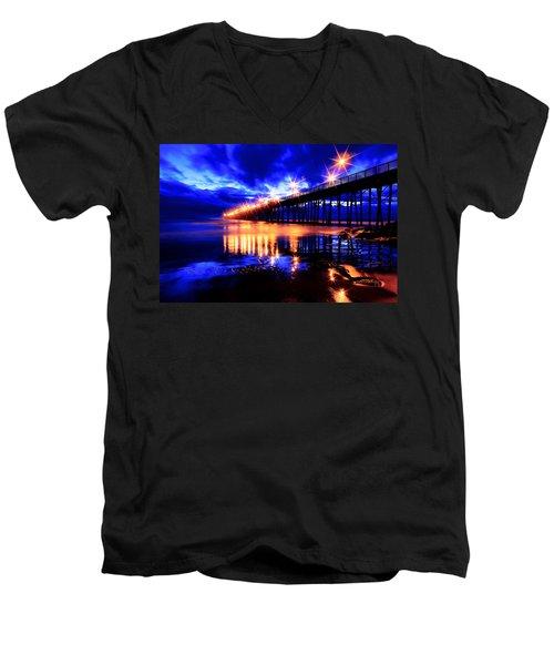 Oceanside Pier 4 Men's V-Neck T-Shirt
