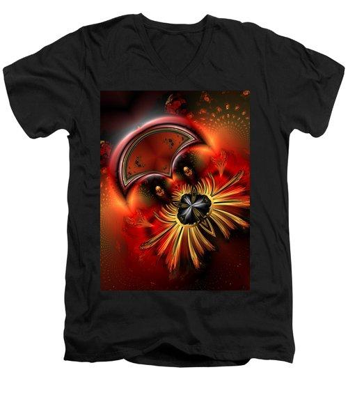 Ocf 199 Fido In Abstract Men's V-Neck T-Shirt