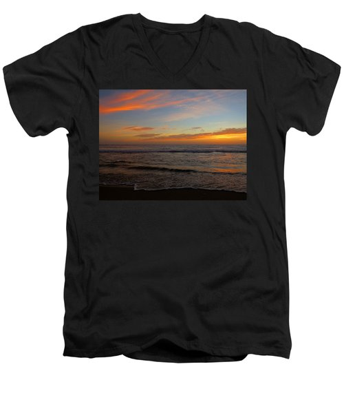 Men's V-Neck T-Shirt featuring the photograph October Beauty by Dianne Cowen