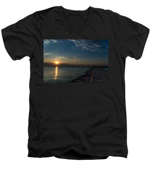 October Sunrise Men's V-Neck T-Shirt