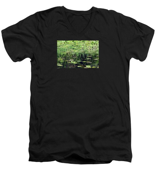 Men's V-Neck T-Shirt featuring the photograph Ode To Monet by Chris Anderson