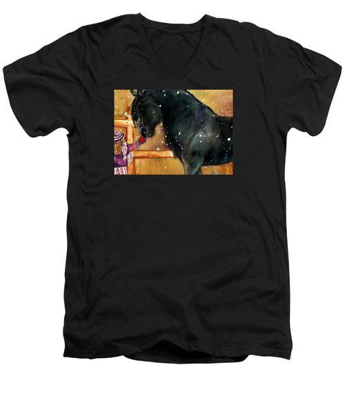 Of Girls And Horses Sold Men's V-Neck T-Shirt by Lil Taylor