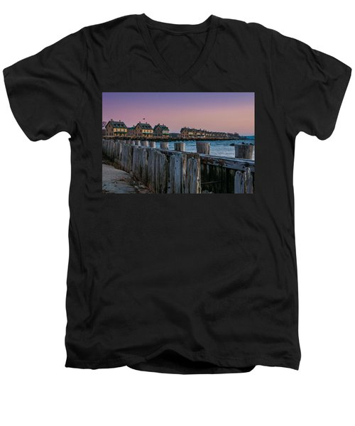 Men's V-Neck T-Shirt featuring the photograph Officers' Row by Kristopher Schoenleber