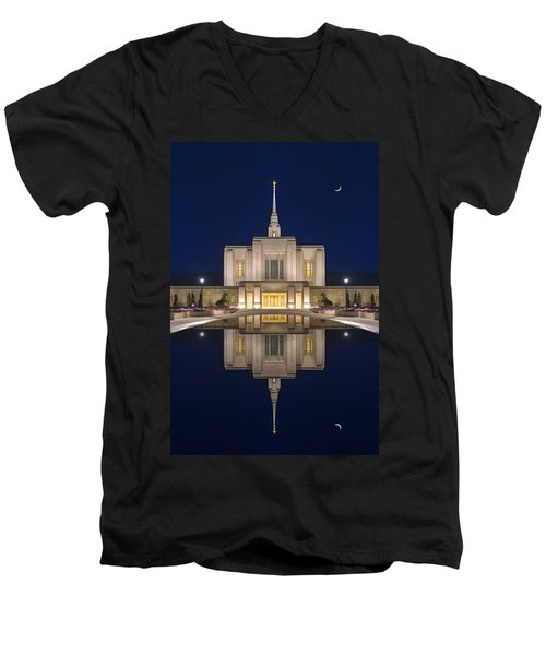 Ogden Temple Reflection Men's V-Neck T-Shirt