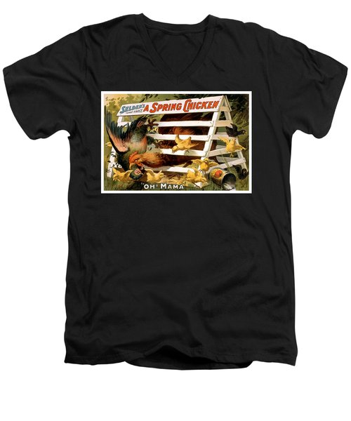 Oh Mama Men's V-Neck T-Shirt by Terry Reynoldson