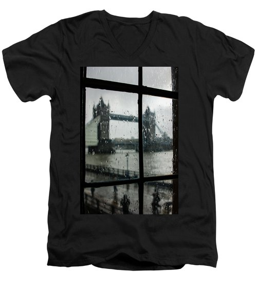 Men's V-Neck T-Shirt featuring the photograph Oh So London by Georgia Mizuleva