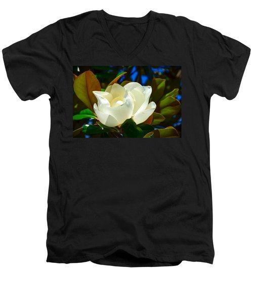 Oh Sweet Magnolia Men's V-Neck T-Shirt by Debra Martz