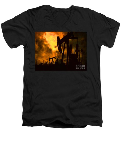 Oil Pumps Men's V-Neck T-Shirt