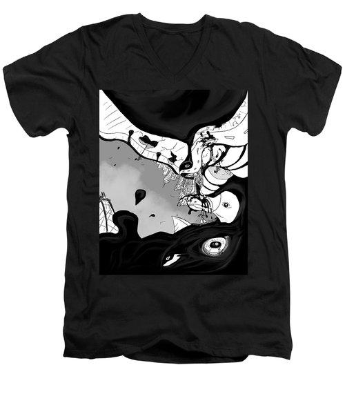 Oil Spill Men's V-Neck T-Shirt