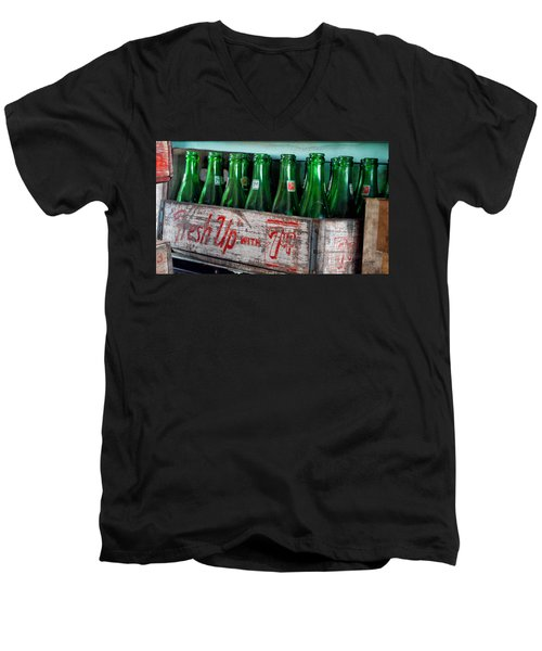 Old 7 Up Bottles Men's V-Neck T-Shirt by Thomas Woolworth