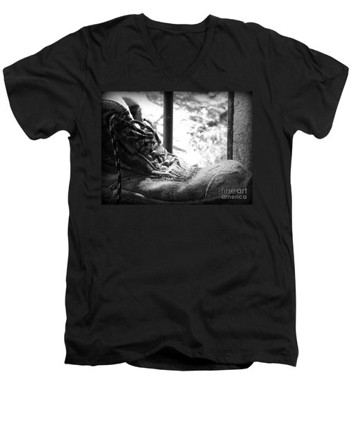Old Boots Men's V-Neck T-Shirt by Clare Bevan