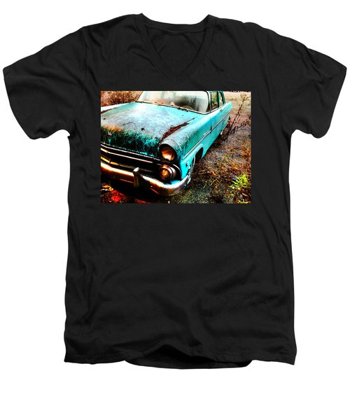 Old Car Men's V-Neck T-Shirt by Janice Spivey