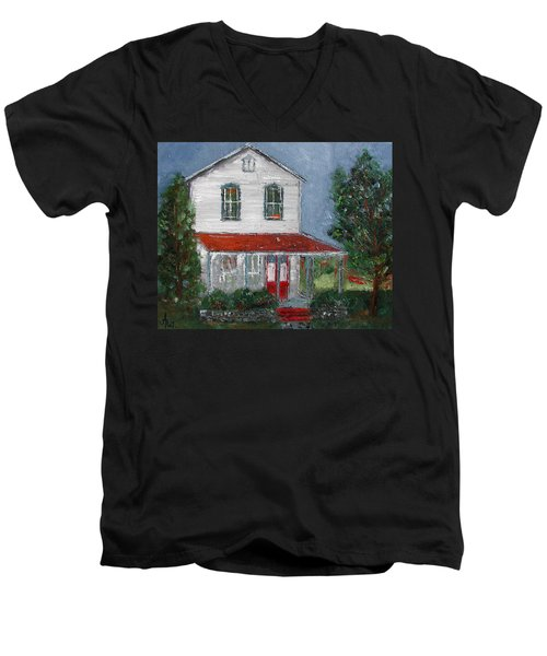 Old Farm House Men's V-Neck T-Shirt