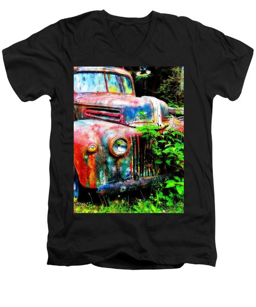 Old Ford #2 Men's V-Neck T-Shirt by Sandy MacGowan