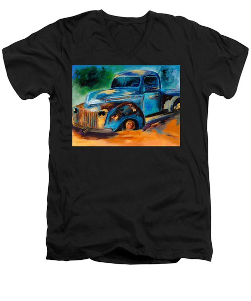 Old Ford In The Back Of The Field Men's V-Neck T-Shirt