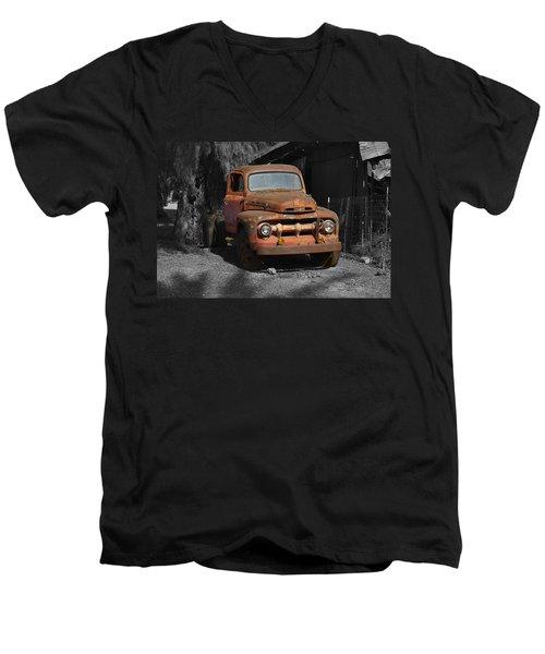 Old Ford Truck Men's V-Neck T-Shirt by Richard J Cassato