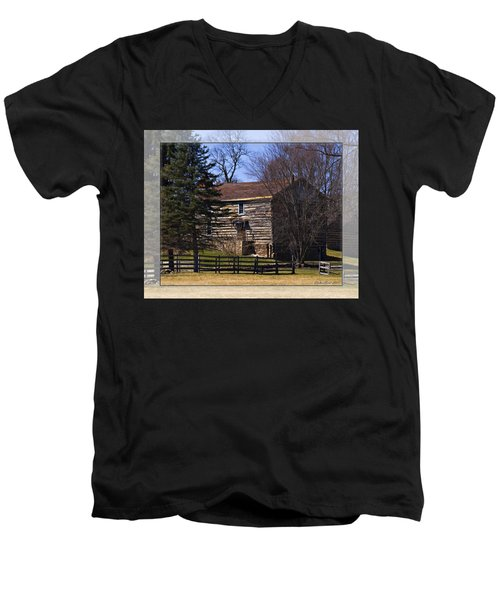 Old Log Home Men's V-Neck T-Shirt