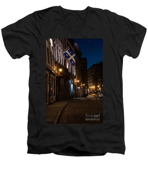 Old Montreal At Night Men's V-Neck T-Shirt