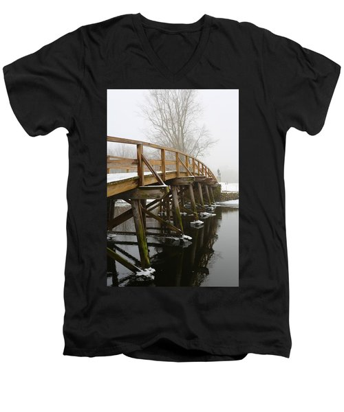 Old North Bridge Men's V-Neck T-Shirt