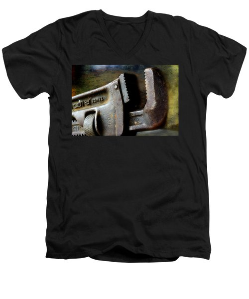 Old Pipe Wrench Men's V-Neck T-Shirt