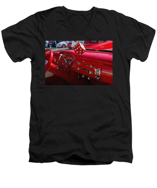 Old Red Chevy Dash Men's V-Neck T-Shirt by Tikvah's Hope