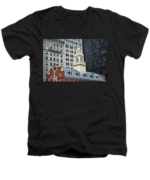 Old State House Boston Ma Men's V-Neck T-Shirt