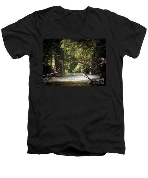 Old Stone Bridge Men's V-Neck T-Shirt