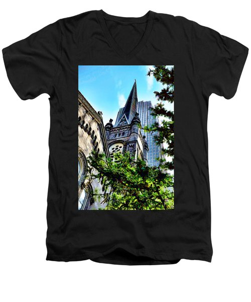 Old Stone Church - Cleveland Ohio - 1 Men's V-Neck T-Shirt