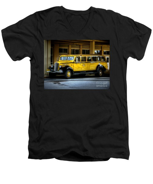 Old Time Yellowstone Bus II Men's V-Neck T-Shirt