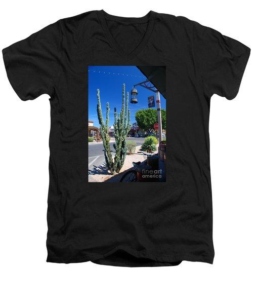 Old Town Cactus Men's V-Neck T-Shirt
