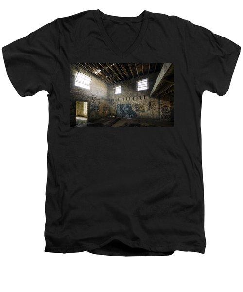 Old Warehouse Interior Men's V-Neck T-Shirt by Scott Norris