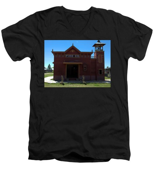 Old West Fire Station Men's V-Neck T-Shirt