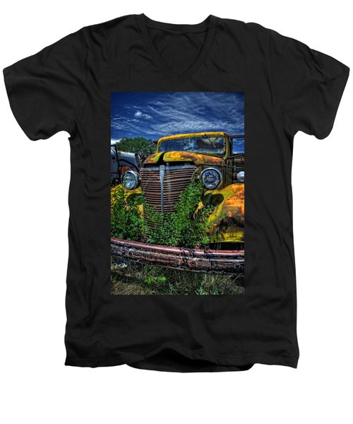 Men's V-Neck T-Shirt featuring the photograph Old Yeller by Ken Smith