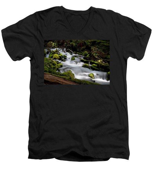 Olympic Spring Men's V-Neck T-Shirt by Art Shimamura