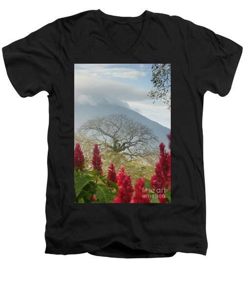 Men's V-Neck T-Shirt featuring the photograph Ometepe Island 1 by Rudi Prott