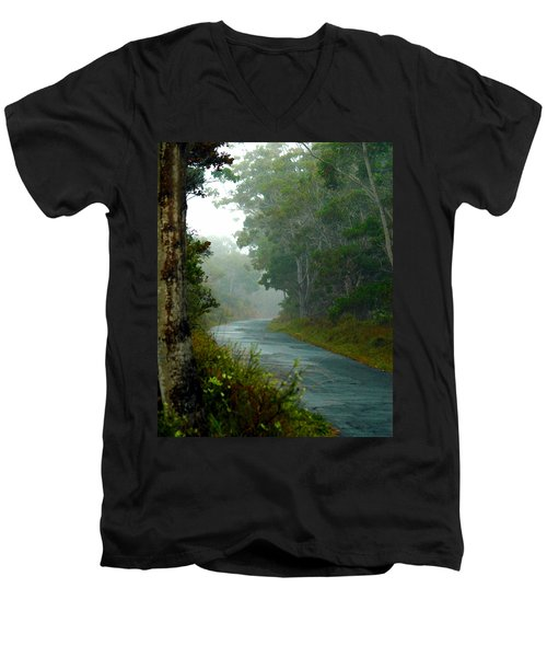 On A Country Road Men's V-Neck T-Shirt