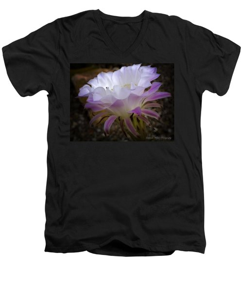Men's V-Neck T-Shirt featuring the photograph On The Edge by Lucinda Walter