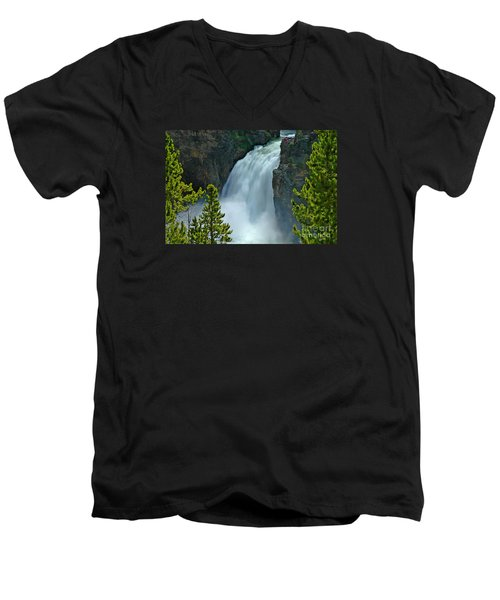Men's V-Neck T-Shirt featuring the photograph On The Edge by Nick  Boren