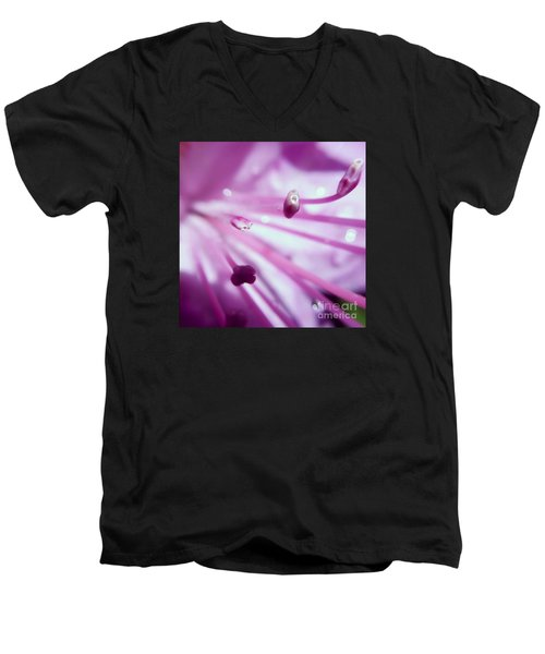 Men's V-Neck T-Shirt featuring the photograph On The Inside by Kerri Farley
