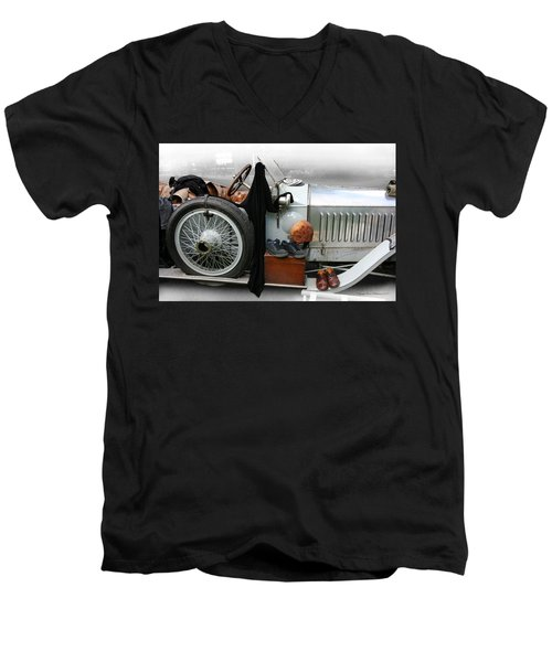 Men's V-Neck T-Shirt featuring the photograph On The Road by Leena Pekkalainen