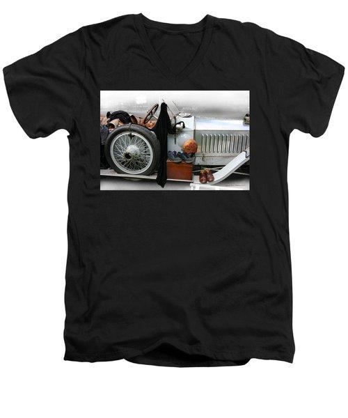 On The Road Men's V-Neck T-Shirt by Leena Pekkalainen