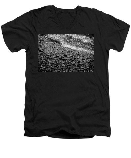 On The Rocks At French Beach Men's V-Neck T-Shirt by Roxy Hurtubise