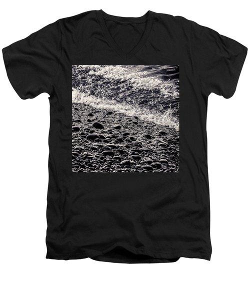 On The Rocks  French Beach Square Men's V-Neck T-Shirt