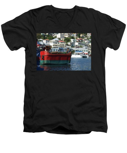 On The Water Men's V-Neck T-Shirt